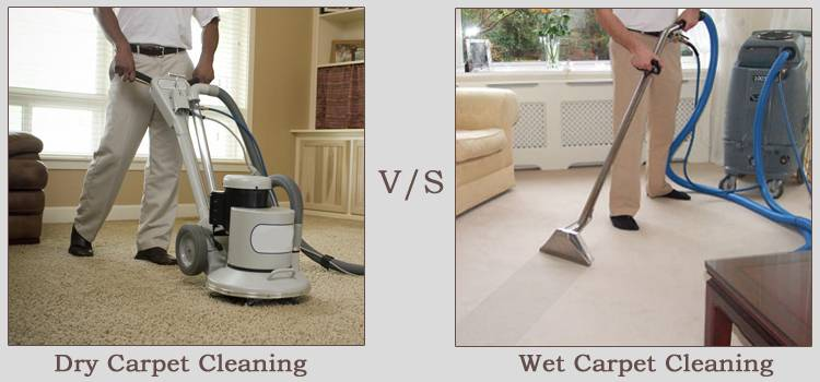 wet vs dry carpet cleaning